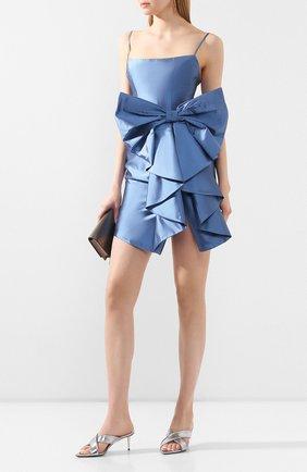 Женское шелковое платье RASARIO голубого цвета, арт. 0107S20_4 | Фото 2