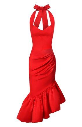 Женское шелковое платье RASARIO красного цвета, арт. 0099S20_3 | Фото 1