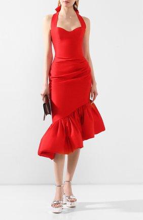 Женское шелковое платье RASARIO красного цвета, арт. 0099S20_3 | Фото 2