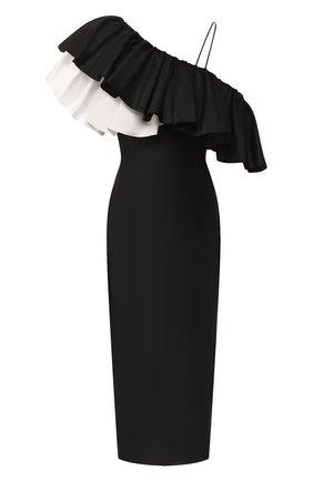 Женское шелковое платье RASARIO черно-белого цвета, арт. 0077S20_12 | Фото 1