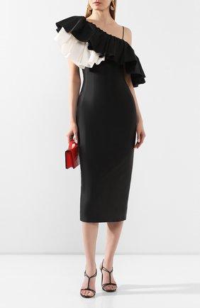 Женское шелковое платье RASARIO черно-белого цвета, арт. 0077S20_12 | Фото 2