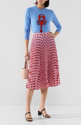 Женская хлопковый пуловер MARKUS LUPFER голубого цвета, арт. KN2878 | Фото 2