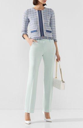 Женские шерстяные брюки WINDSOR бирюзового цвета, арт. 52 DHE127T 10009012 | Фото 2