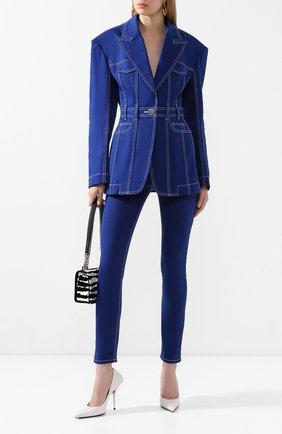 Женские джинсы BALMAIN синего цвета, арт. TF05460/D022 | Фото 2