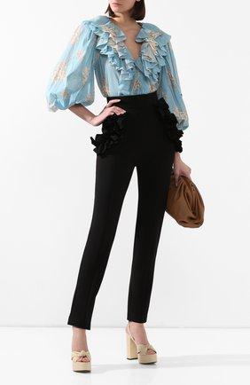Женские брюки ULYANA SERGEENKO черного цвета, арт. PNT002FW19P (1797т19) | Фото 2