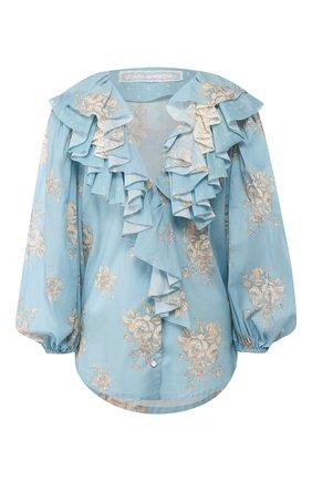 Женская хлопковая блузка ULYANA SERGEENKO голубого цвета, арт. CMA003SS20P (0320т20) | Фото 1
