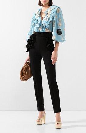 Женская хлопковая блузка ULYANA SERGEENKO голубого цвета, арт. CMA003SS20P (0320т20) | Фото 2