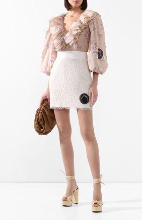Женская юбка ULYANA SERGEENKO бежевого цвета, арт. GNC002SS20P (0512т20) | Фото 2