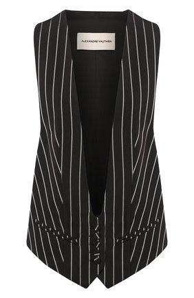 Женский жилет из вискозы ALEXANDRE VAUTHIER черно-белого цвета, арт. 202JA1254 1272-202 | Фото 1
