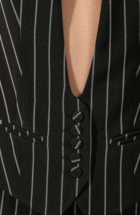 Женский жилет из вискозы ALEXANDRE VAUTHIER черно-белого цвета, арт. 202JA1254 1272-202 | Фото 5