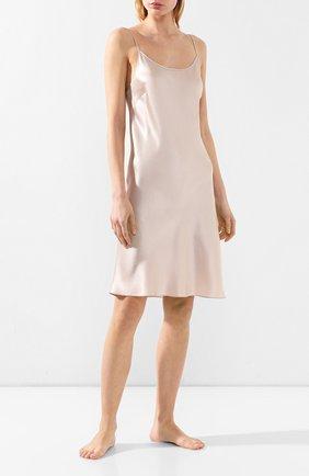 Женская шелковая сорочка LUNA DI SETA бежевого цвета, арт. VLST08015 | Фото 2