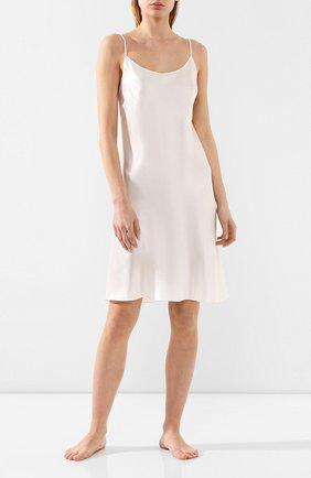 Женская шелковая сорочка LUNA DI SETA белого цвета, арт. VLST08015 | Фото 2