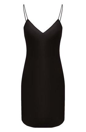 Женская шелковая сорочка LUNA DI SETA черного цвета, арт. VLST08008 | Фото 1