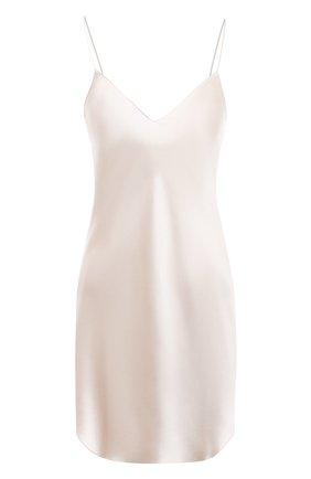 Женская шелковая сорочка LUNA DI SETA белого цвета, арт. VLST08008 | Фото 1