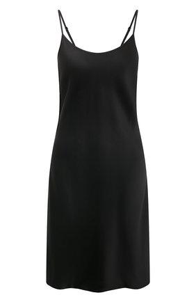 Женская шелковая сорочка LUNA DI SETA черного цвета, арт. VLST08015 | Фото 1