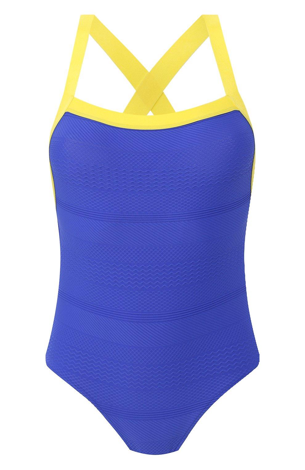 Женский слитный купальник ANDRES SARDA синего цвета, арт. 3408537 | Фото 1 (Длина Ж (юбки, платья, шорты): Мини; Материал внешний: Синтетический материал; Женское Кросс-КТ: Слитные купальники)