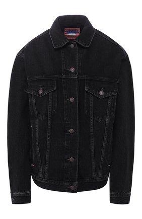 Женская джинсовая куртка ACNE STUDIOS черного цвета, арт. A90240/W | Фото 1