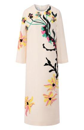 Платье из шерсти и шелка | Фото №1