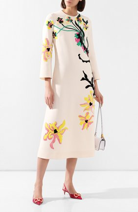 Платье из шерсти и шелка | Фото №2