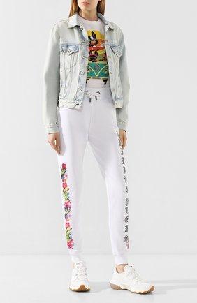 Женская хлопковая футболка DSQUARED2 белого цвета, арт. S72GD0236/S22427 | Фото 2