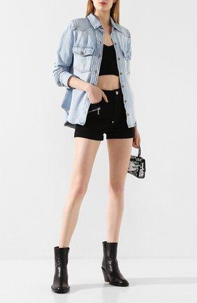 Женские джинсовые шорты PHILIPP PLEIN черного цвета, арт. P20C WDT1359 PDE004N | Фото 2