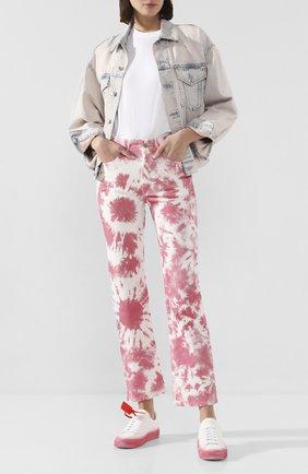 Женские джинсы ALANUI розового цвета, арт. LWYA010S20DEN003 | Фото 2