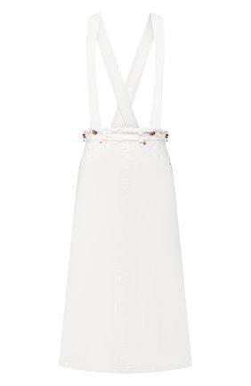 Женская юбка из смеси хлопка и льна TWO WOMEN IN THE WORLD белого цвета, арт. ENGEL/Y174J | Фото 1