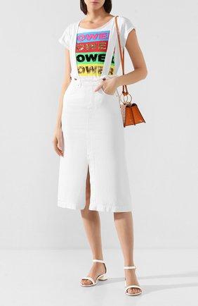 Женская юбка из смеси хлопка и льна TWO WOMEN IN THE WORLD белого цвета, арт. ENGEL/Y174J | Фото 2