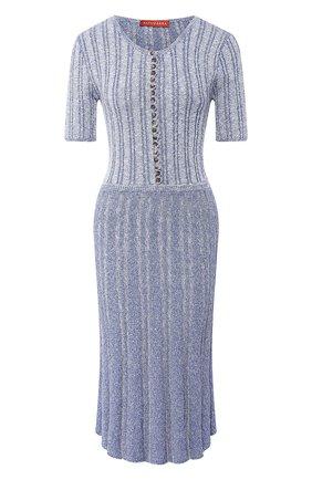 Женское хлопковое платье ALTUZARRA голубого цвета, арт. 120-8306-KCM001 | Фото 1