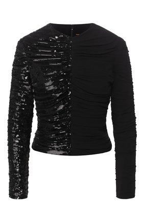 Женская шелковая блузка SAINT LAURENT черного цвета, арт. 611556/Y059R | Фото 1