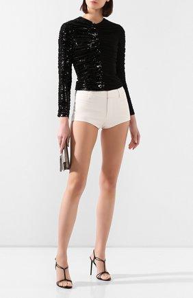 Женская шелковая блузка SAINT LAURENT черного цвета, арт. 611556/Y059R | Фото 2