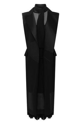 Женское платье SACAI черного цвета, арт. 20-05053 | Фото 1