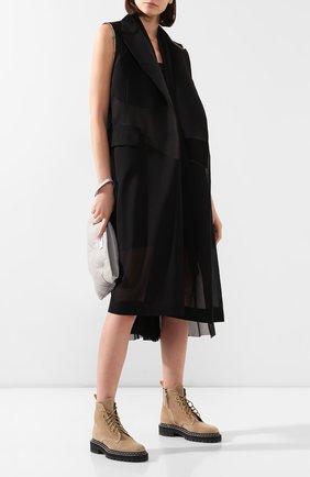 Женское платье SACAI черного цвета, арт. 20-05053 | Фото 2