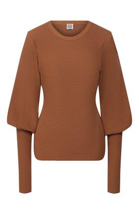 Женская пуловер TOTÊME коричневого цвета, арт. VIGN0LA 201-711-755 | Фото 1