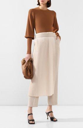 Женская пуловер TOTÊME коричневого цвета, арт. VIGN0LA 201-711-755 | Фото 2
