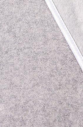 Женский хлопковый халат LE CHAT серого цвета, арт. ESSENTIELE61A   Фото 5 (Рукава: Длинные; Материал внешний: Хлопок; Длина Ж (юбки, платья, шорты): До колена)