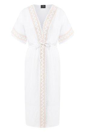 Женские хлопковое платье LE CHAT белого цвета, арт. MADRAGUE860 | Фото 1