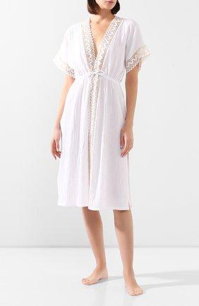 Женские хлопковое платье LE CHAT белого цвета, арт. MADRAGUE860 | Фото 2
