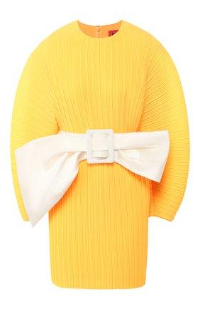 Женское платье с поясом SOLACE оранжевого цвета, арт. 0S26074 | Фото 1
