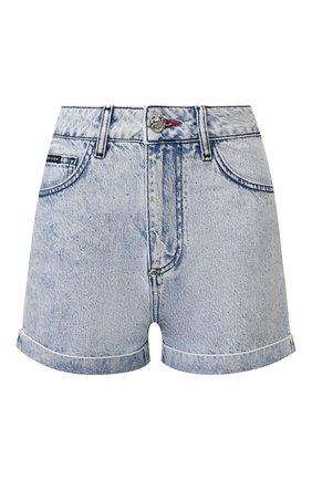 Женские джинсовые шорты PHILIPP PLEIN голубого цвета, арт. P20C WDT1361 PDE004N | Фото 1