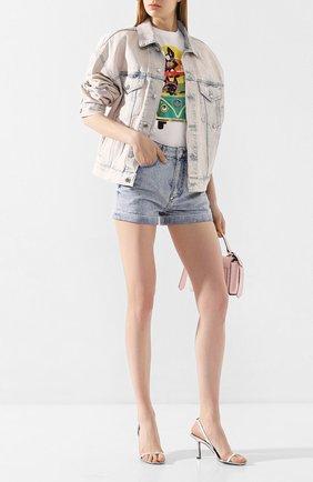 Женские джинсовые шорты PHILIPP PLEIN голубого цвета, арт. P20C WDT1361 PDE004N | Фото 2