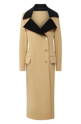 Женское шерстяное пальто PROENZA SCHOULER бежевого цвета, арт. R2021010-AW085 | Фото 1
