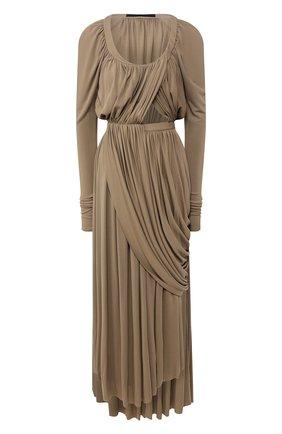 Женское платье из вискозы PROENZA SCHOULER хаки цвета, арт. R2023000E-JY060 | Фото 1