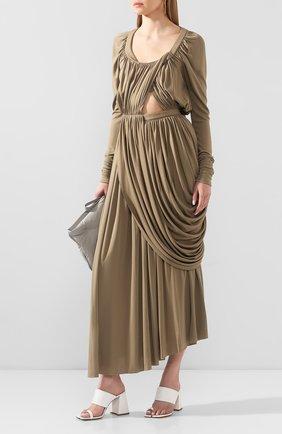 Женское платье из вискозы PROENZA SCHOULER хаки цвета, арт. R2023000E-JY060 | Фото 2