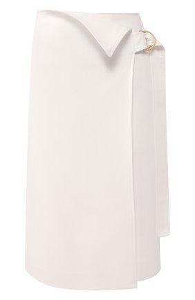Женская юбка из смеси вискозы и хлопка PROENZA SCHOULER белого цвета, арт. R2025002-AC106 | Фото 1