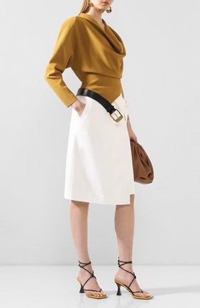 Женская юбка из смеси вискозы и хлопка PROENZA SCHOULER белого цвета, арт. R2025002-AC106 | Фото 2