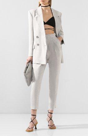 Женские брюки  PROENZA SCHOULER серого цвета, арт. R2026002-AY114 | Фото 2