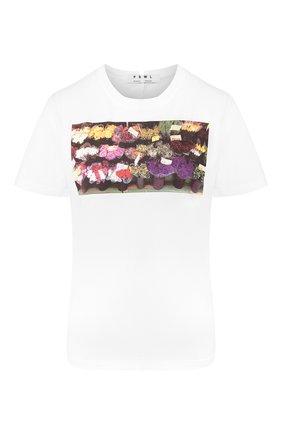 Женская хлопковая футболка PROENZA SCHOULER WHITE LABEL белого цвета, арт. WL2024146-JC137 | Фото 1