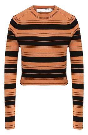 Женская пуловер из смеси шелка и хлопка PROENZA SCHOULER WHITE LABEL черного цвета, арт. WL2027391-KS047 | Фото 1