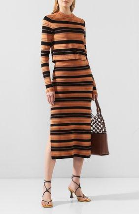 Женская пуловер из смеси шелка и хлопка PROENZA SCHOULER WHITE LABEL черного цвета, арт. WL2027391-KS047 | Фото 2